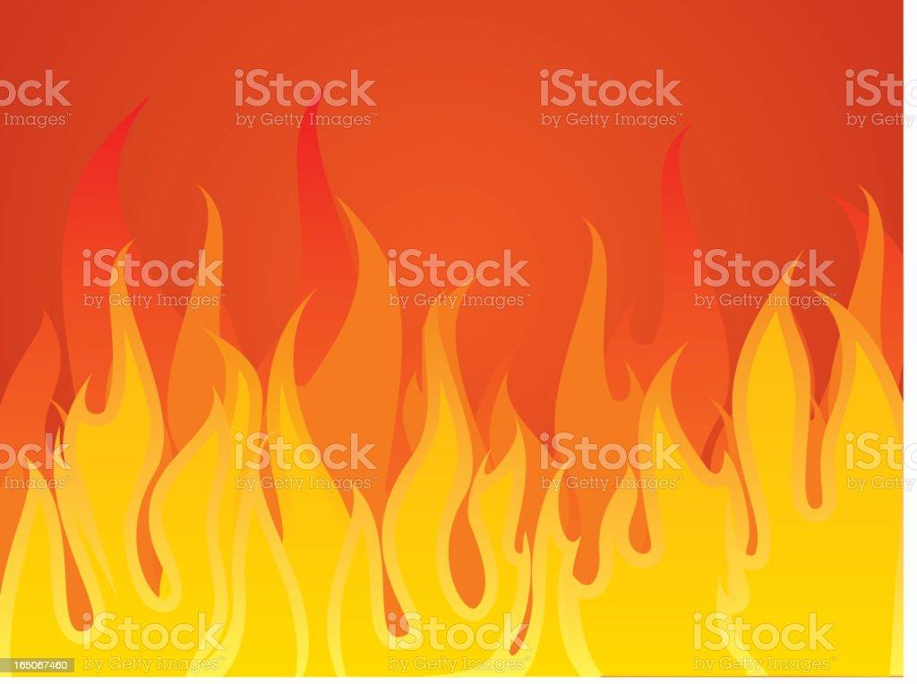 aggressive fire royalty-free stock vector art