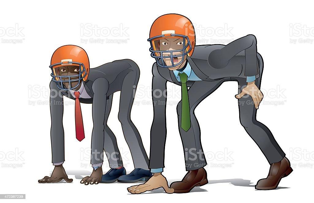Aggressive team vector art illustration