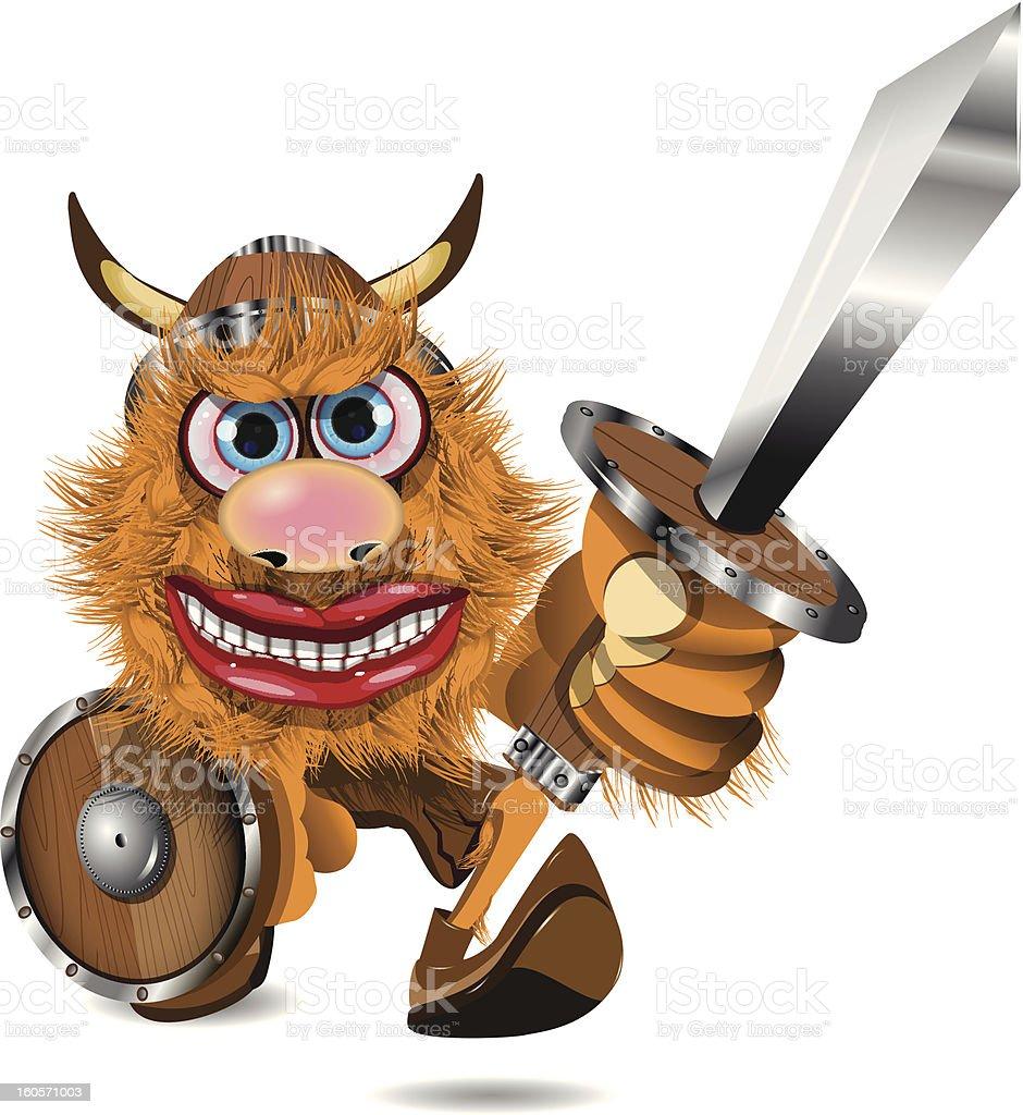 aggressive viking royalty-free stock vector art