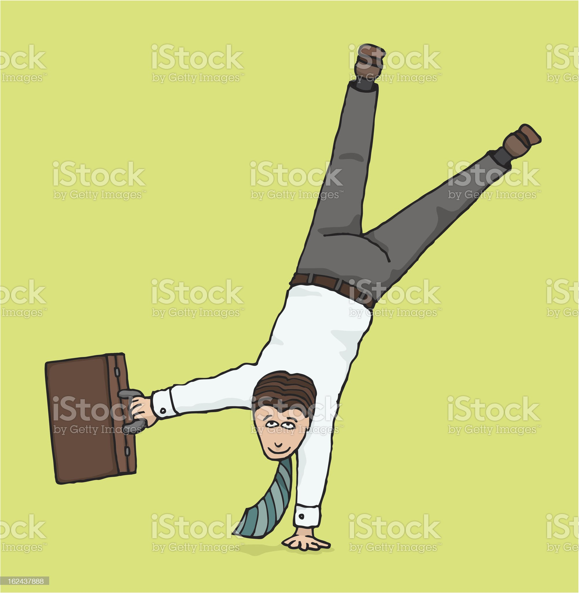 Agile businessman / Business upside down royalty-free stock vector art