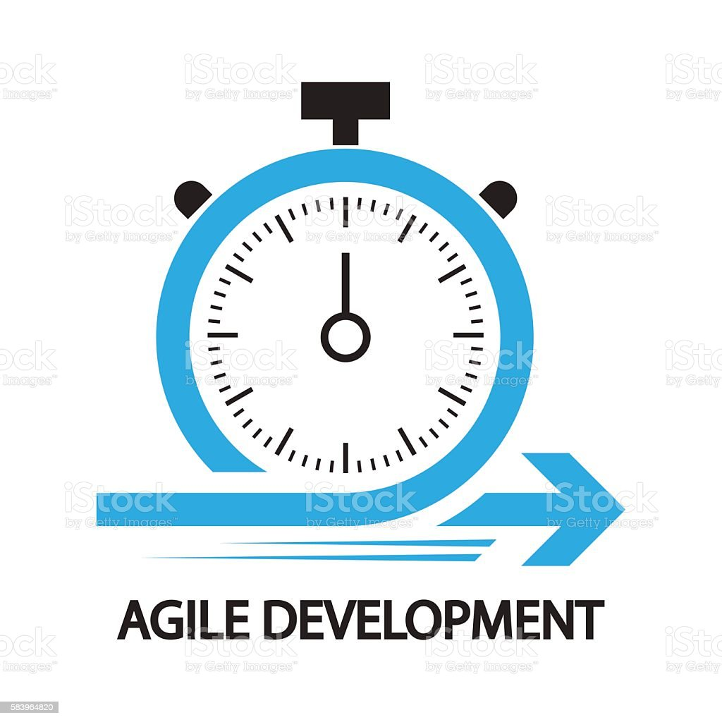 agile development,Stopwatch concept ,icon and symbol vector art illustration