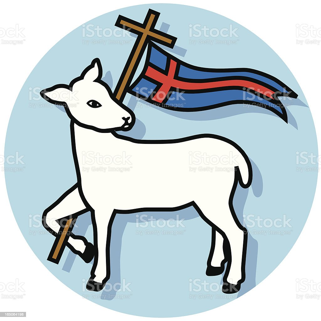 Agnus Dei lamb and banner royalty-free stock vector art