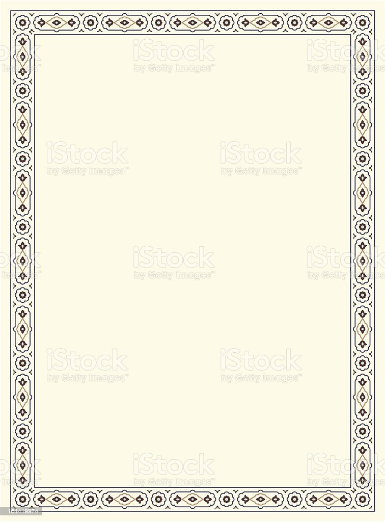 Agra Simple Floral Frame royalty-free stock vector art