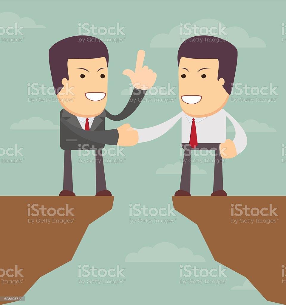 Agreement. Business illustration vector art illustration