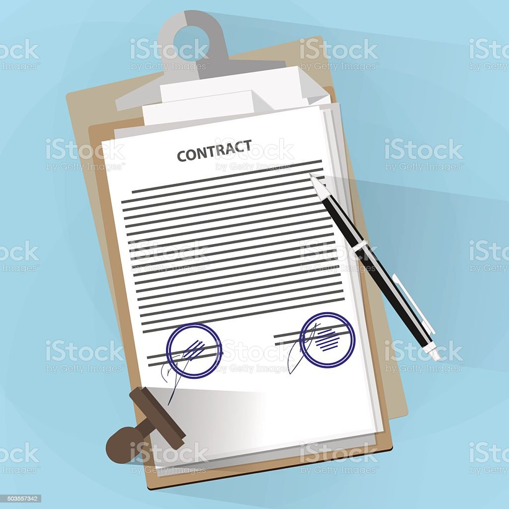 Agreement documents concept vector art illustration