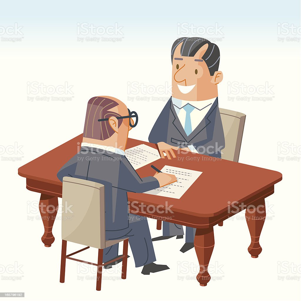 Agreement vector art illustration
