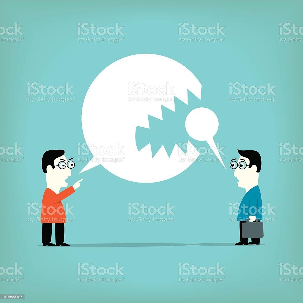 Agressive vector art illustration
