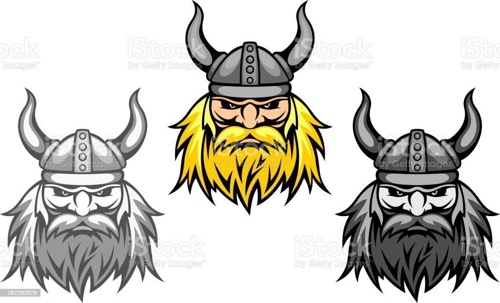 Agressive viking warriors royalty-free stock vector art