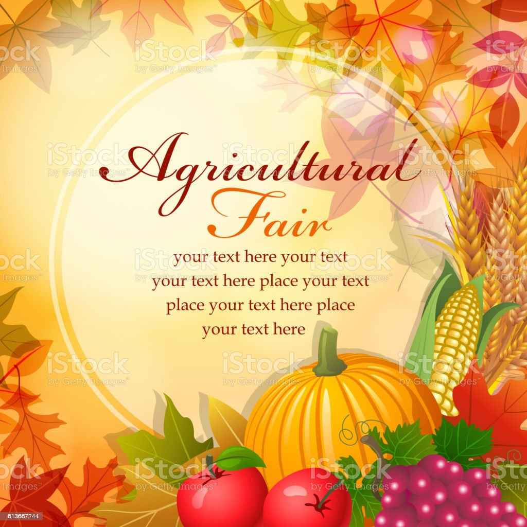 Agricultural Fair vector art illustration