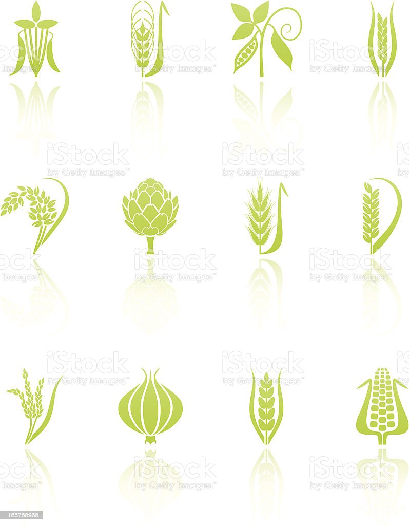 Agricultural icons royalty-free stock vector art