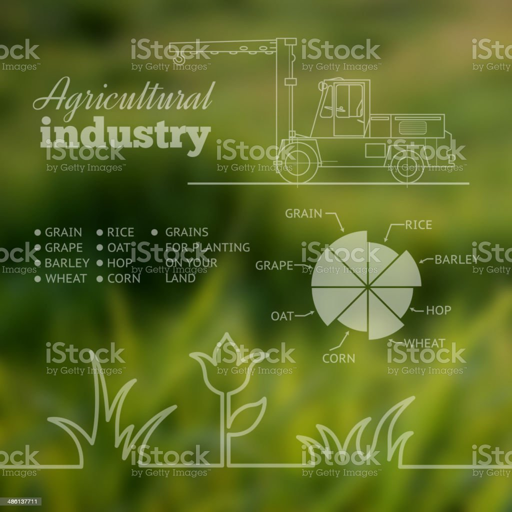 Agricultural industry infographic design. vector art illustration