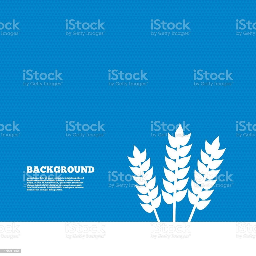 Agricultural sign icon. Gluten free or No gluten vector art illustration