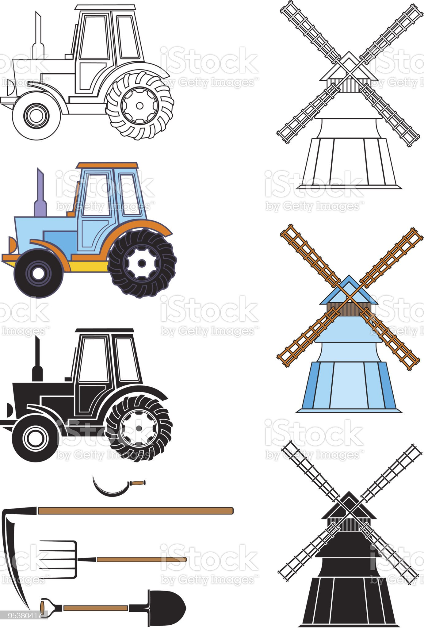 Agricultural Technology royalty-free stock vector art