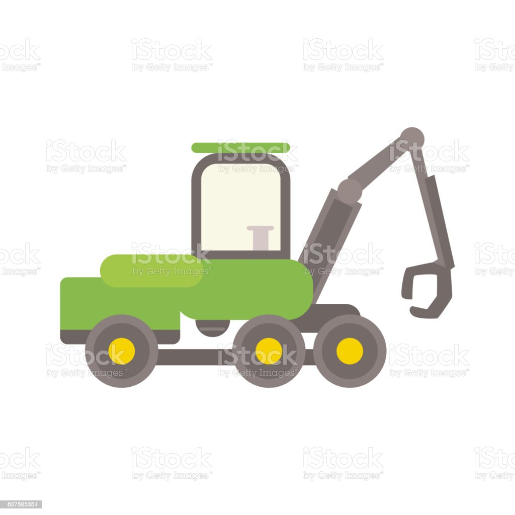 Agricultural tractor vector illustration. vector art illustration