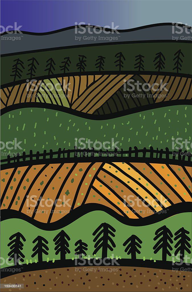 agriculture and forest royalty-free stock vector art