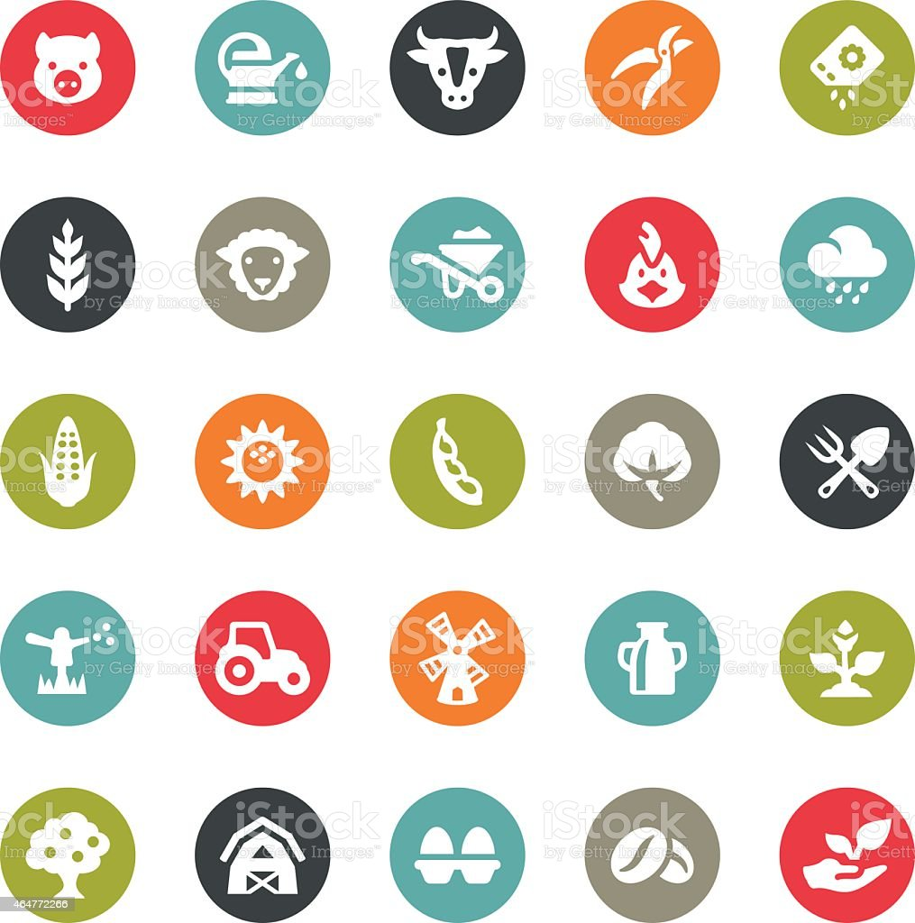 Agriculture and Harvesting icons / Ringico series vector art illustration