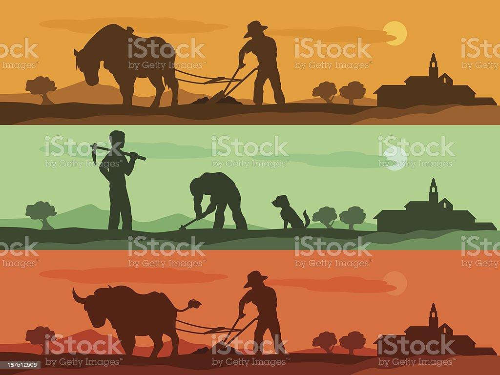 agriculture banner vector art illustration