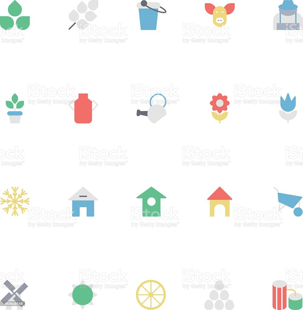 Agriculture Colored Vector Icons 1 vector art illustration