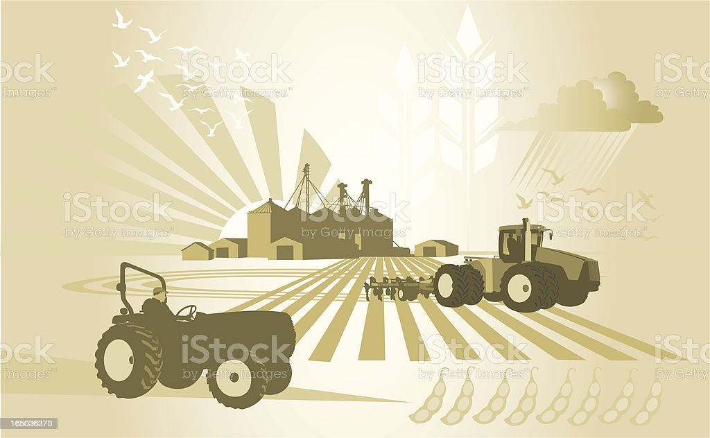 Agriculture: Down on the Farm royalty-free stock vector art