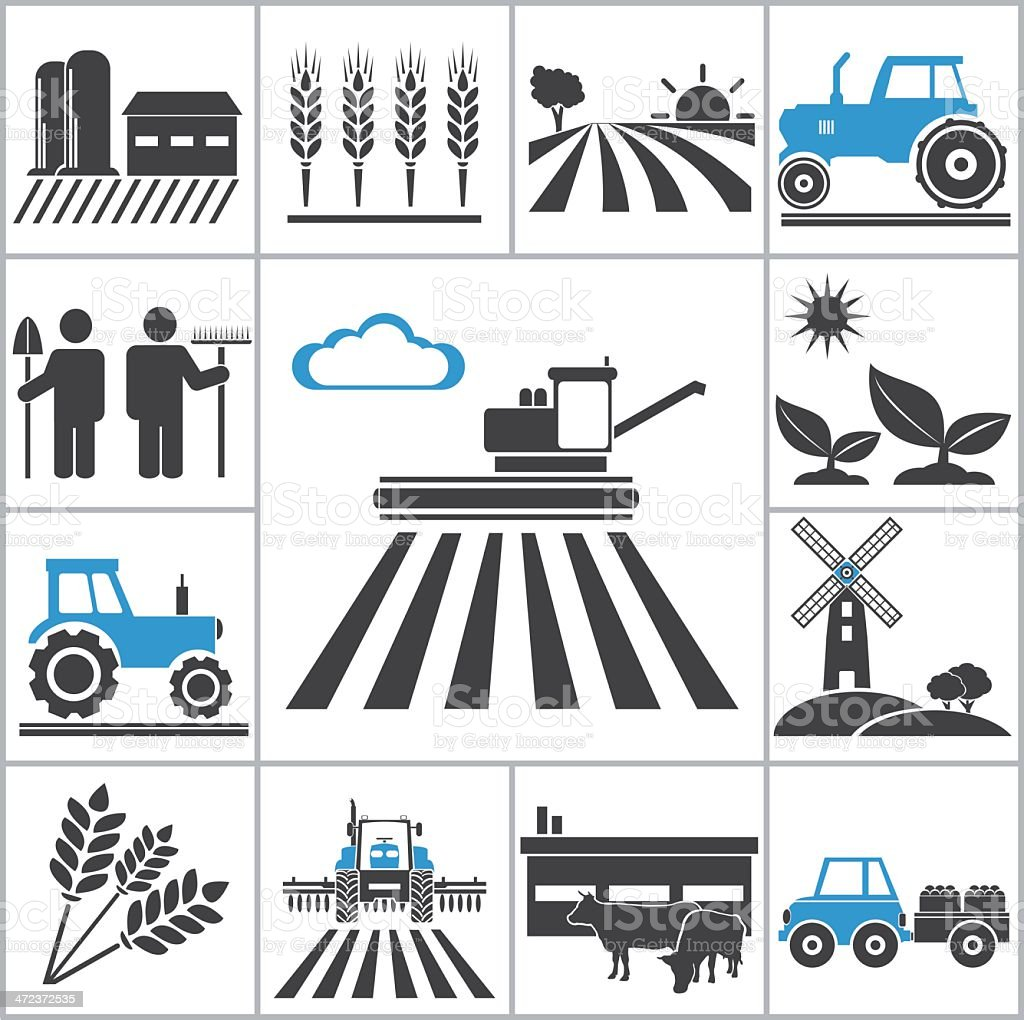 Agriculture icons vector art illustration