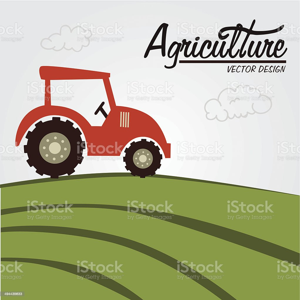 agriculture label vector art illustration
