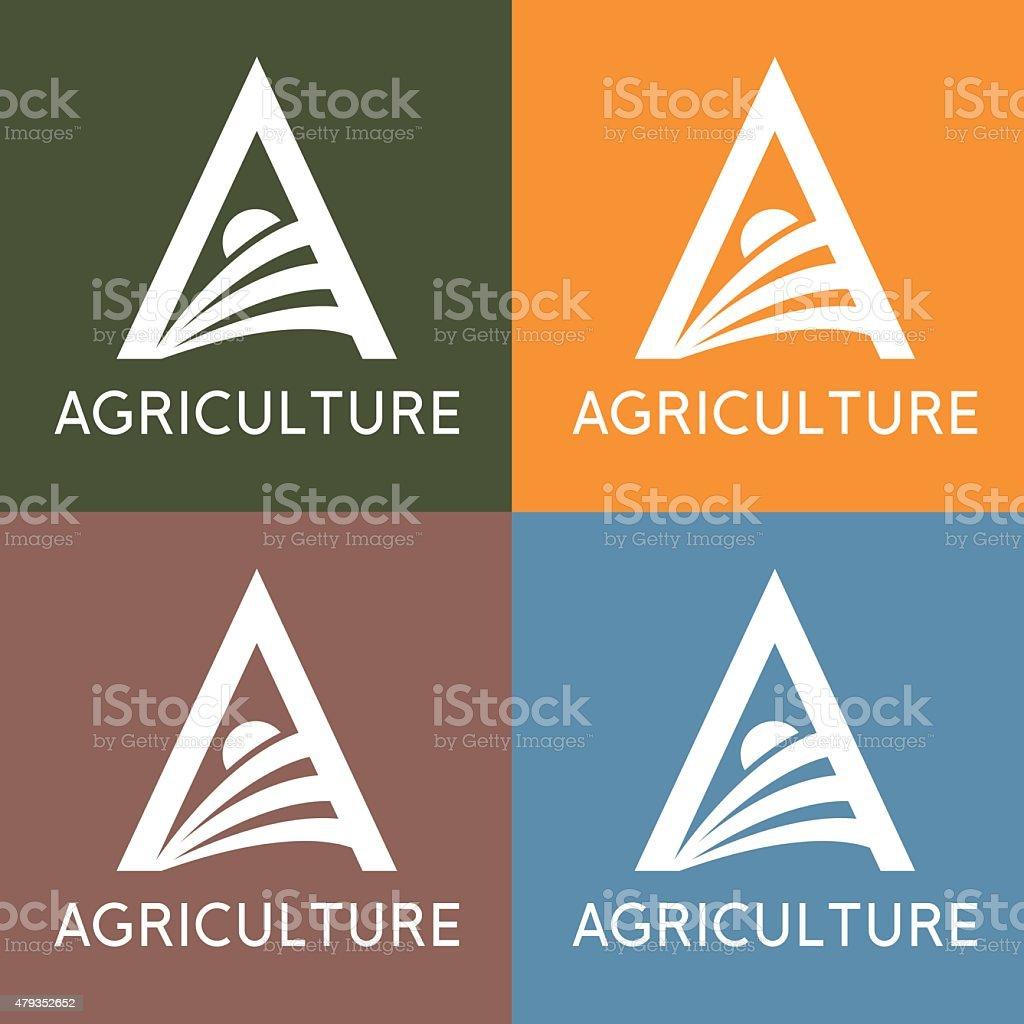 agriculture monogram vector art illustration
