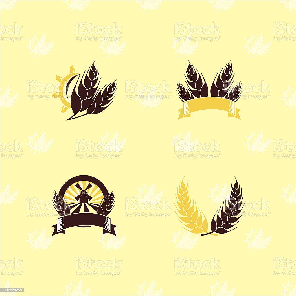 Agriculture set of design elements royalty-free stock vector art