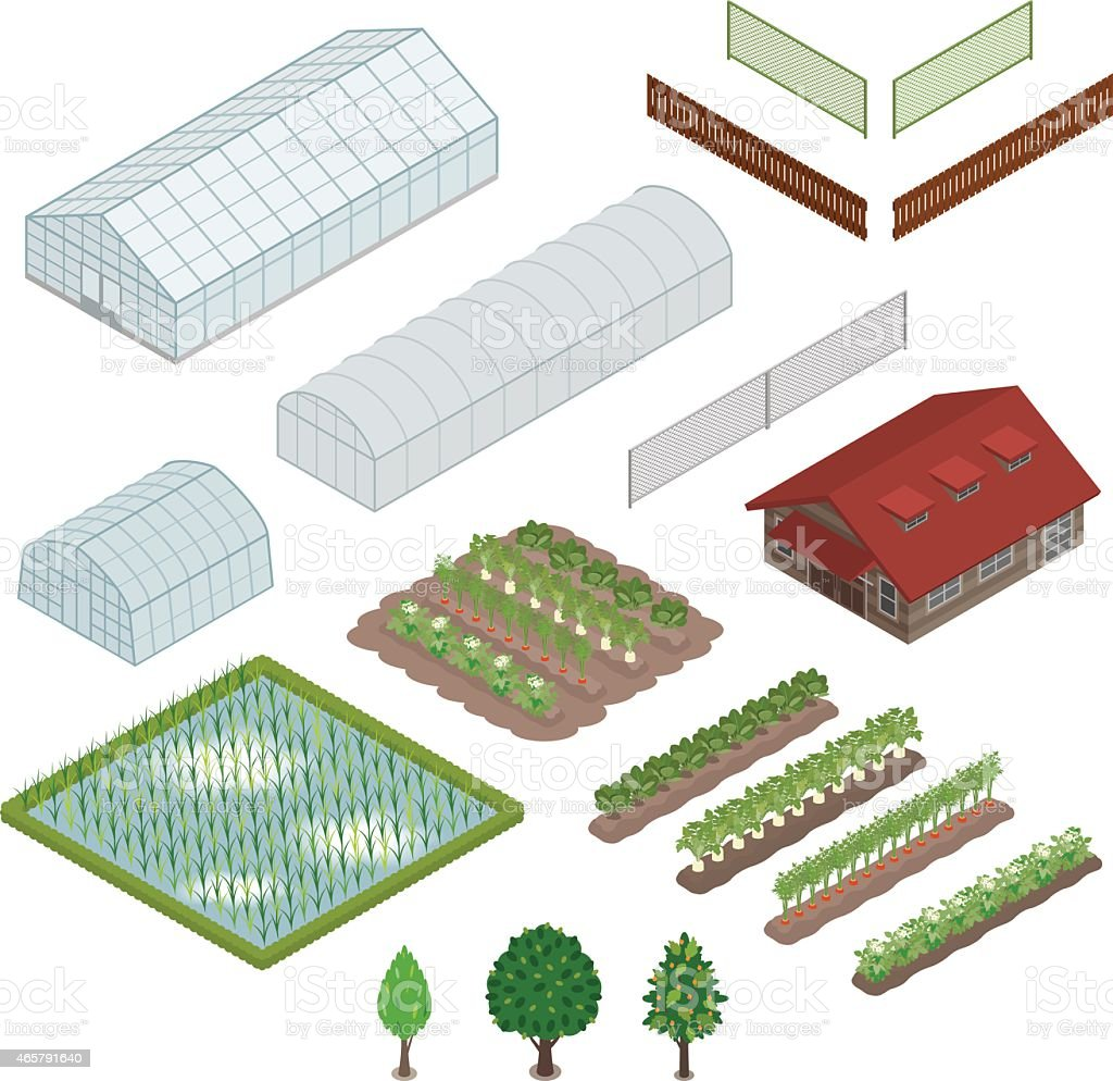 Agriculture / Solid figure vector art illustration
