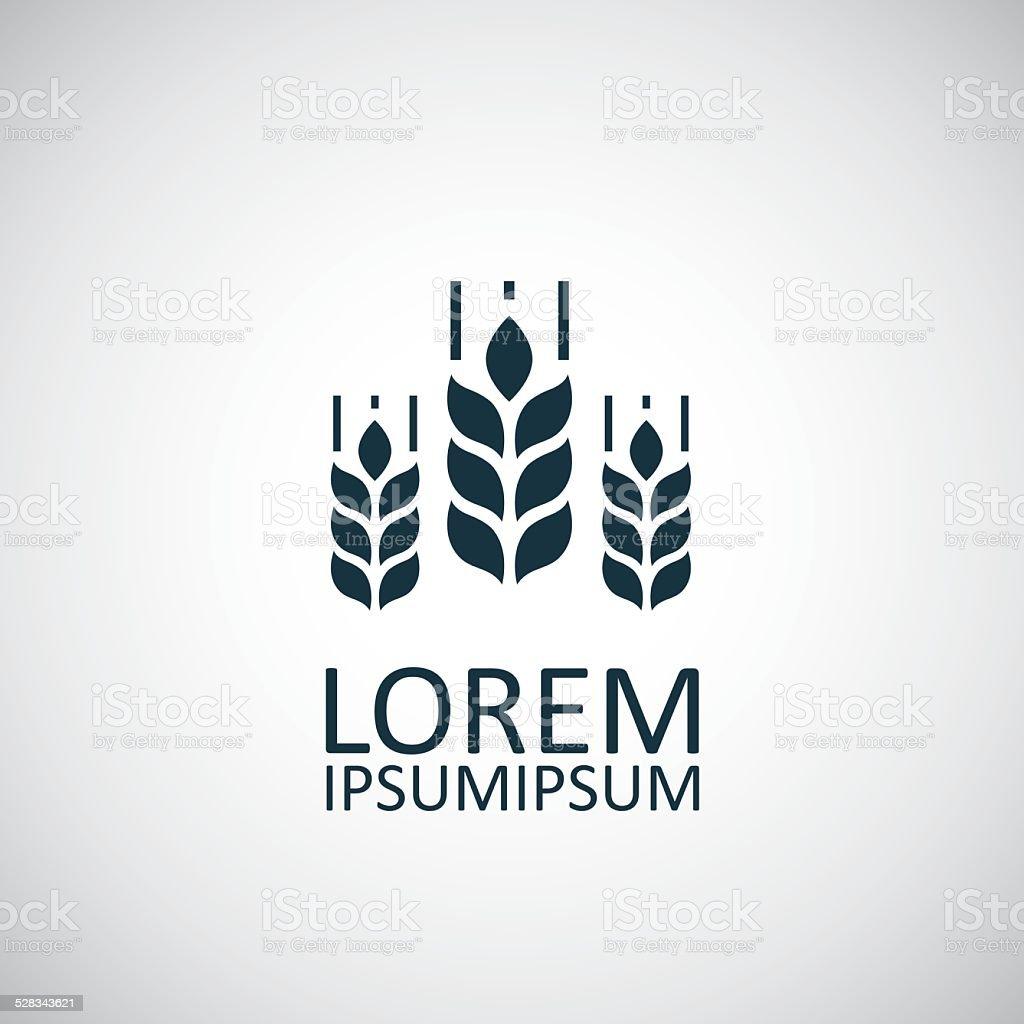 Agriculture symbol vector art illustration