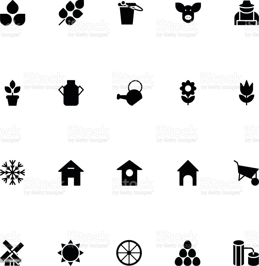 Agriculture Vector Icons 1 vector art illustration