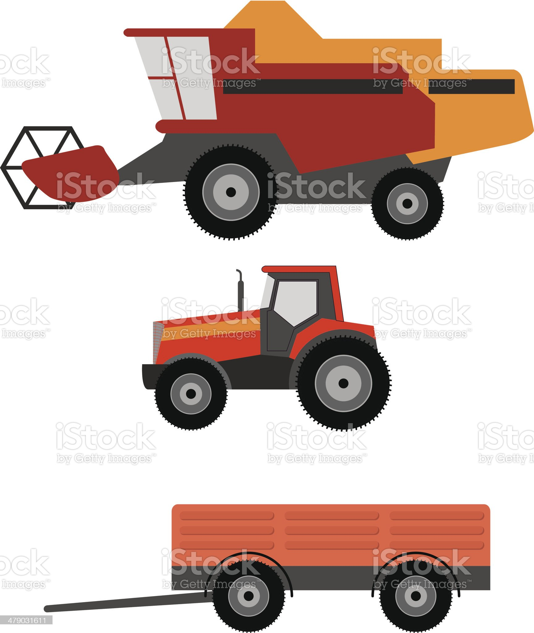 Agriculture vehicles royalty-free stock vector art