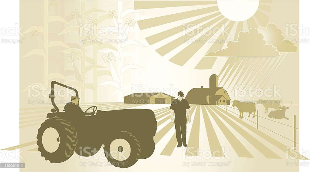 Agriculture: What will this season bring? royalty-free stock vector art