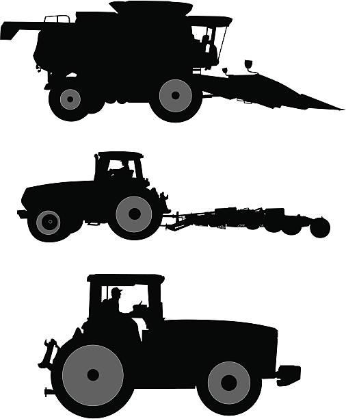 Farm Equipment Clip Art : Combine harvester clip art vector images illustrations