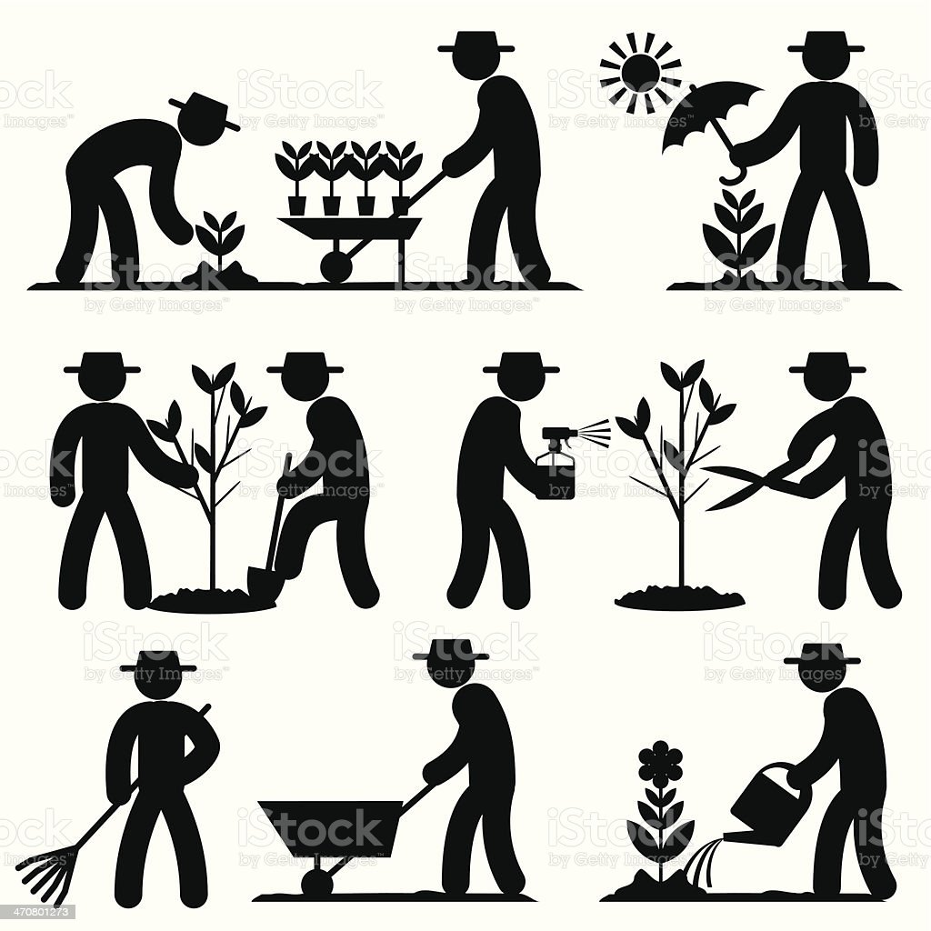 agro people icons vector art illustration