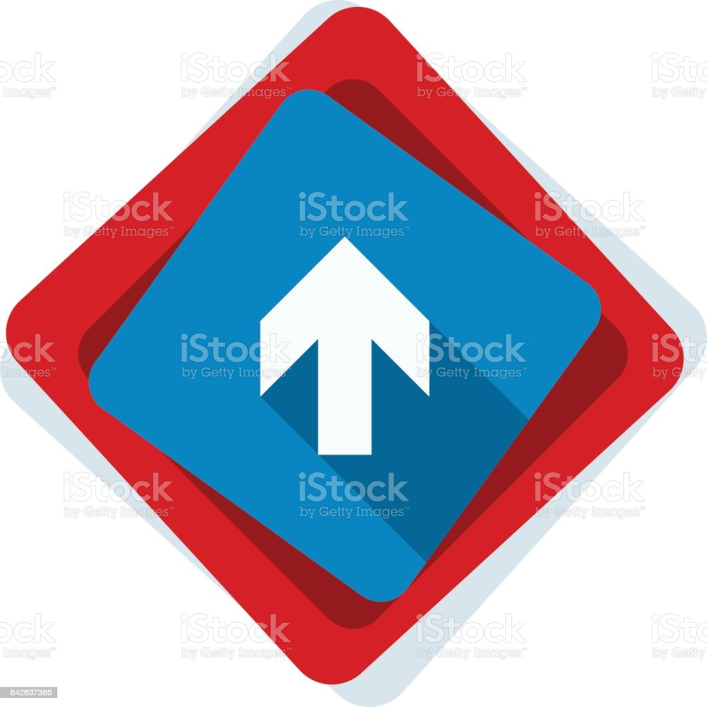 Ahead Up Arrow sign illustration vector art illustration