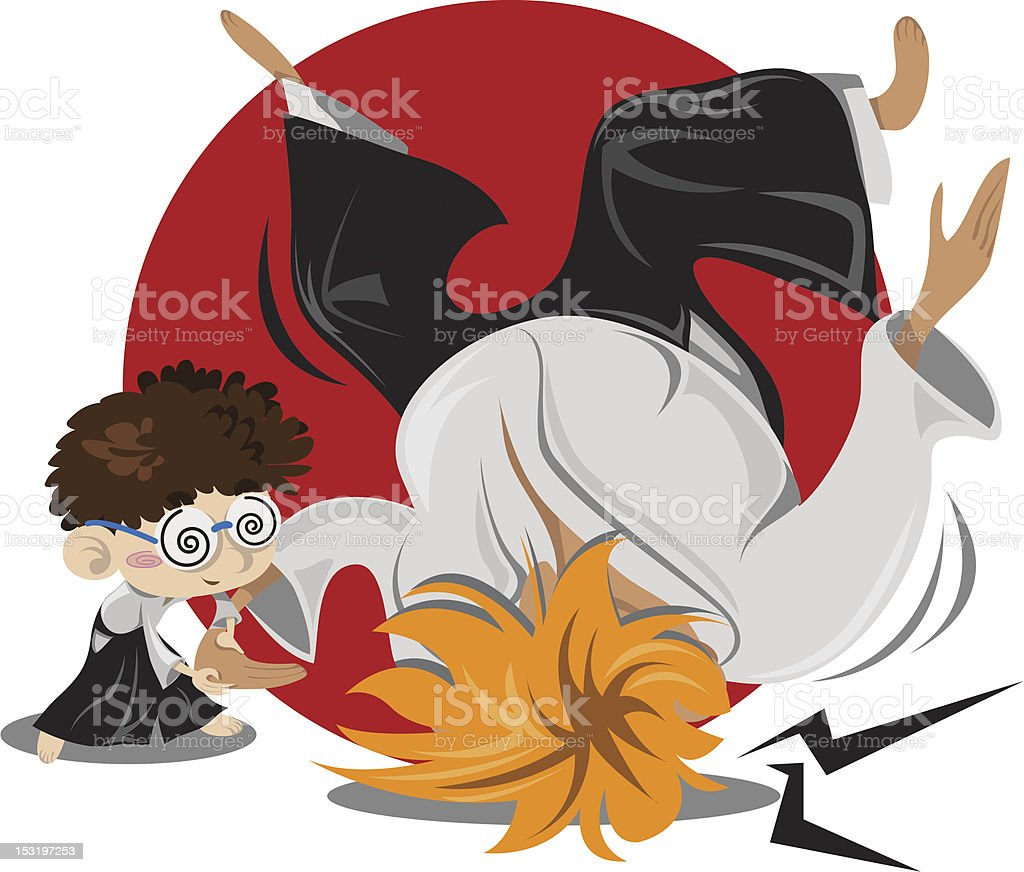 Aikido Boy vector art illustration