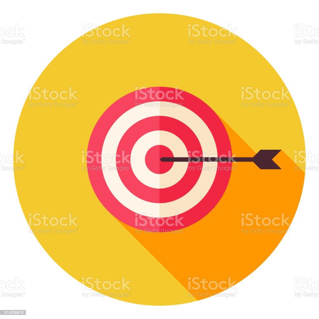 Aim with Arrow Circle Icon vector art illustration