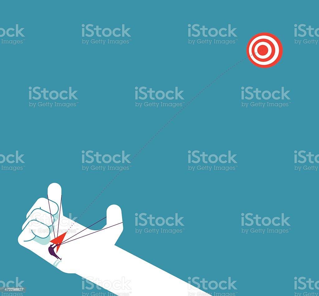 Aiming at target royalty-free stock vector art