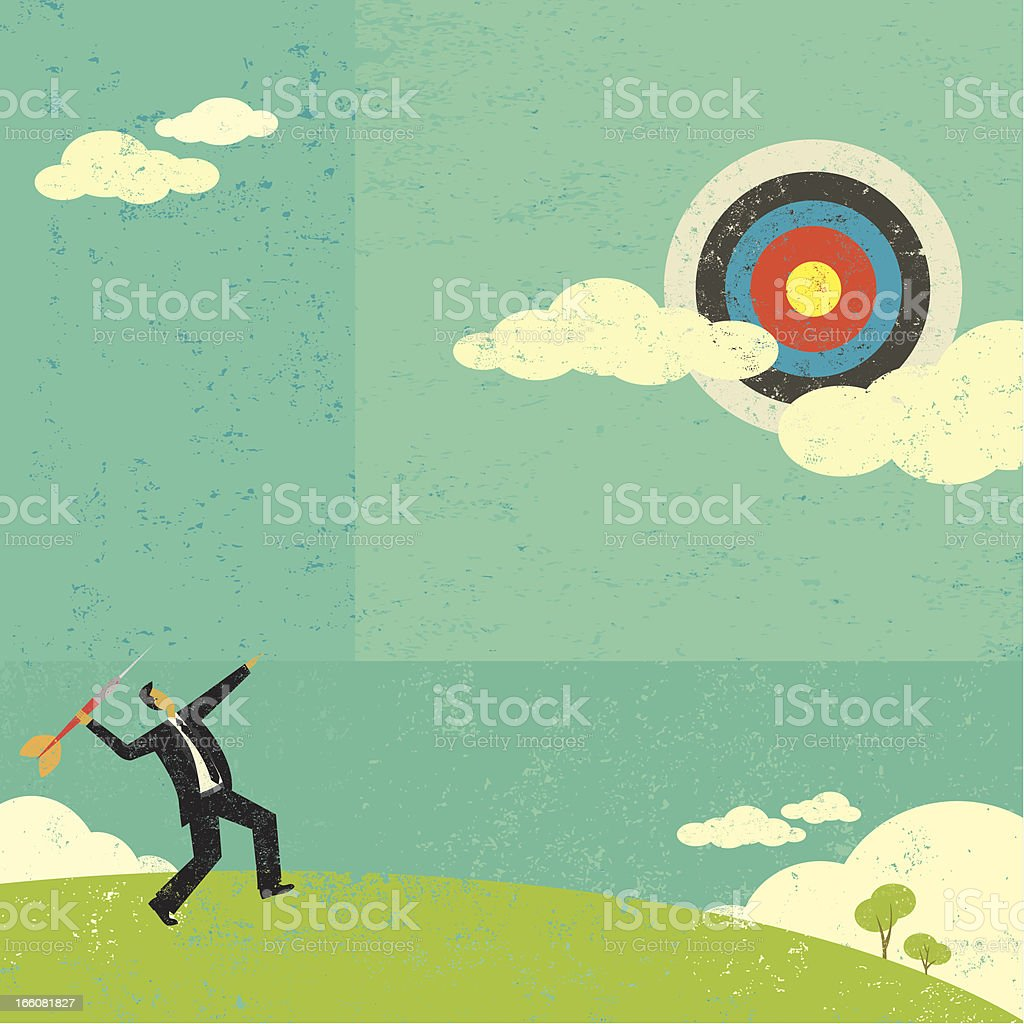 Aiming for a high target royalty-free stock vector art