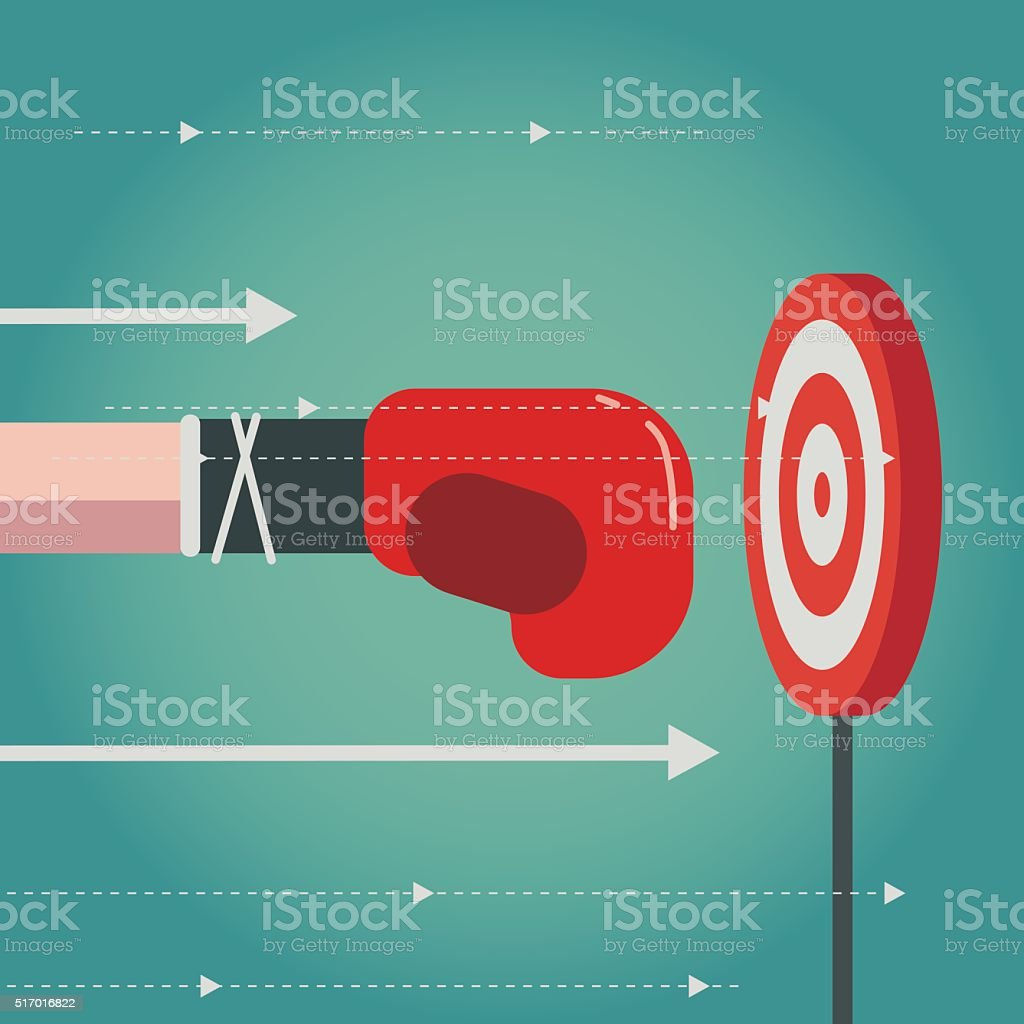 aiming vector art illustration
