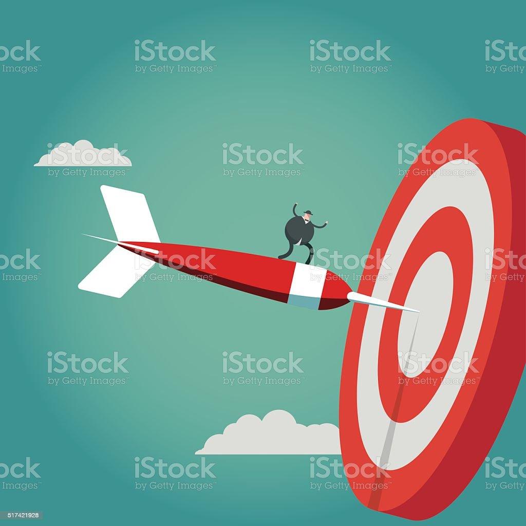 aiming vector art illustration