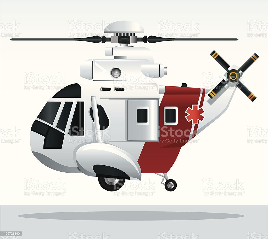 Air Ambulance vector art illustration