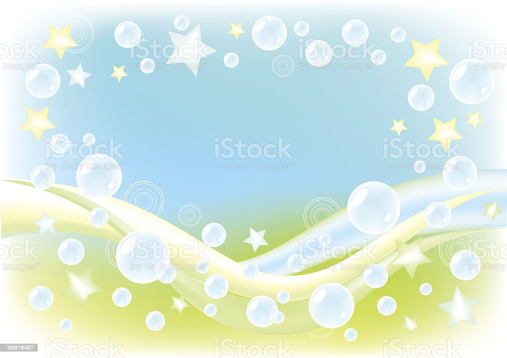Air background with soap bubbles. royalty-free stock vector art