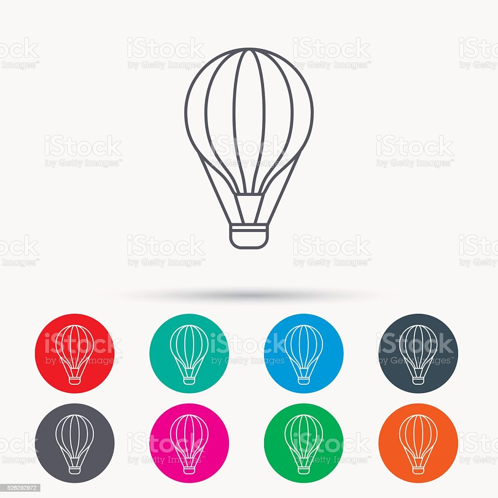 Air balloon icon. Fly transport sign. vector art illustration