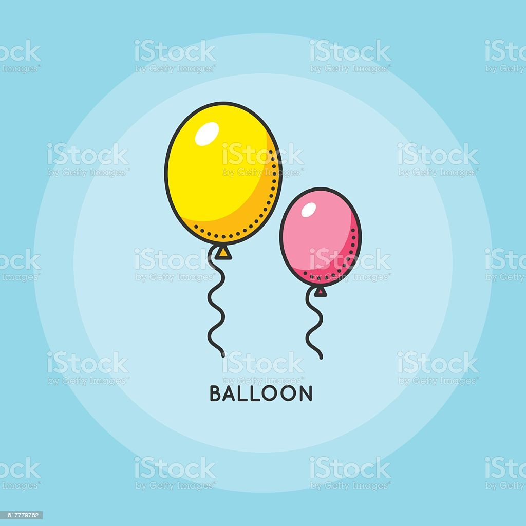 Air balloons for party. vector art illustration