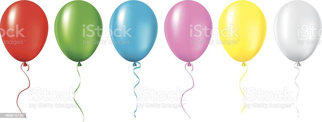 Air Balloons vector art illustration