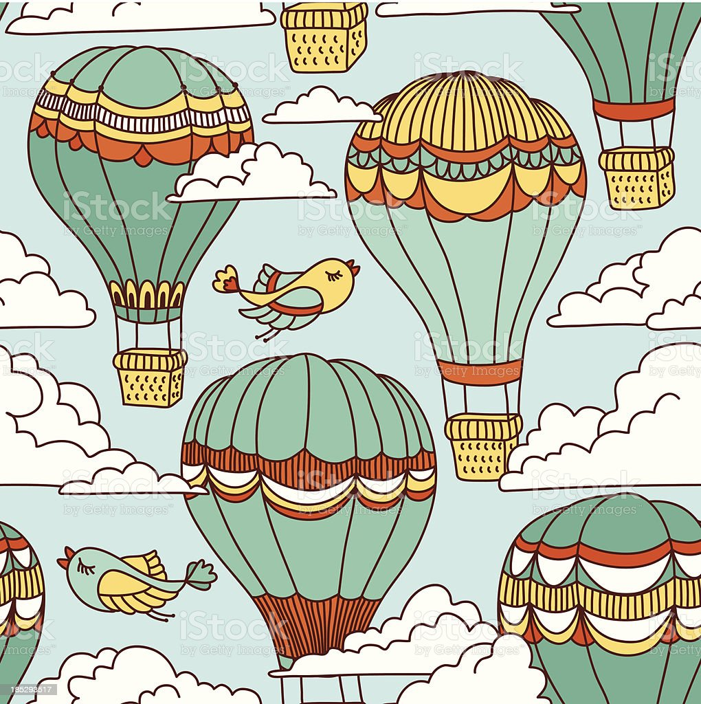 Air balloons royalty-free stock vector art