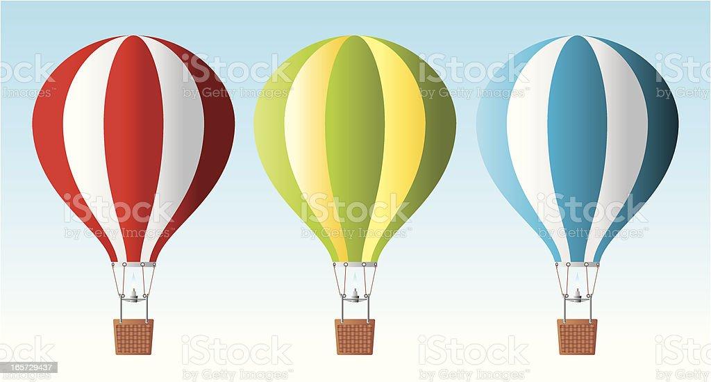 Air baloons vector art illustration