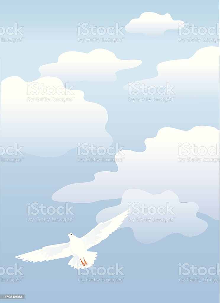 Air - blue sky & clouds royalty-free stock vector art