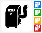 Air Conditioner Icon Flat Graphic Design